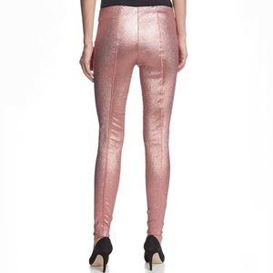 Byron Lars Beauty Mark Metallic Rose Gold Pants